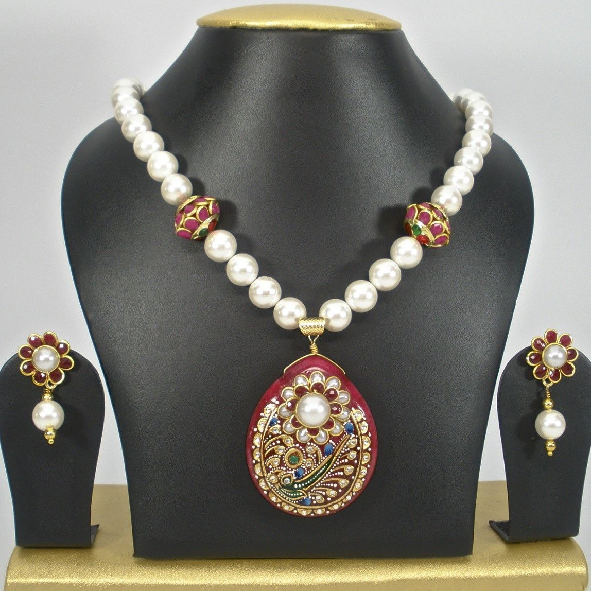 Pearl set with fusion pendent products pinterest products