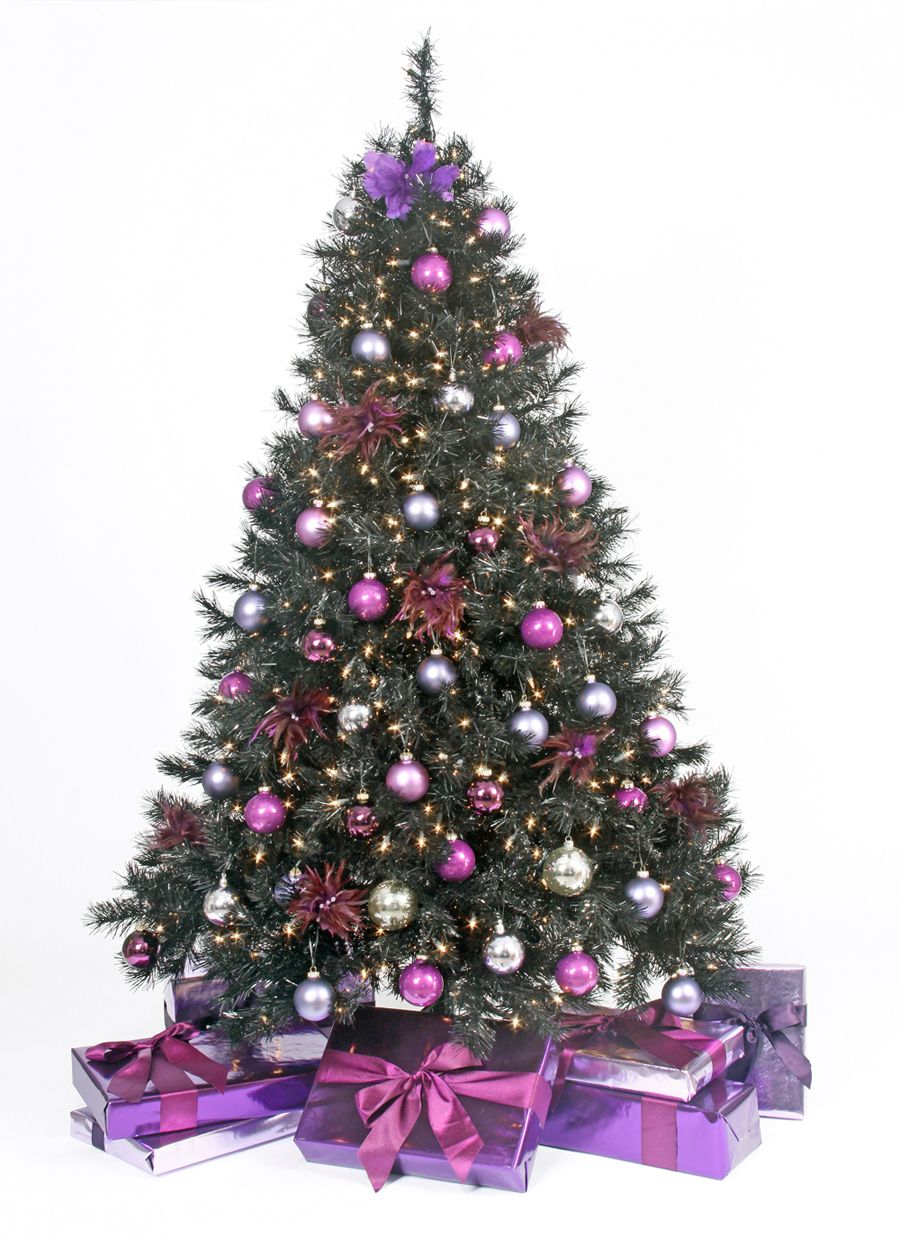 how to decorate your black christmas tree