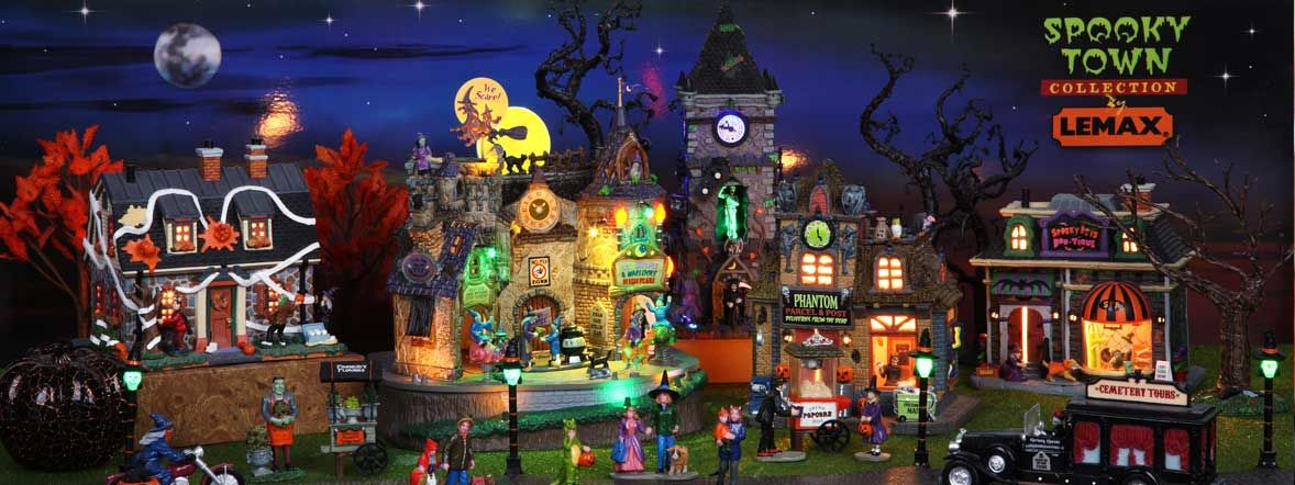 Lemax Village Collection - Halloween and Christmas Decorations - christmas town decorations