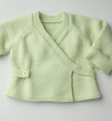 Modèle brassière cache-coeur bébé - Modèles tricot layette - Phildar