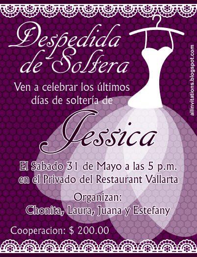 Invitación Despedida De Soltera Vestido Blanco Invitacion