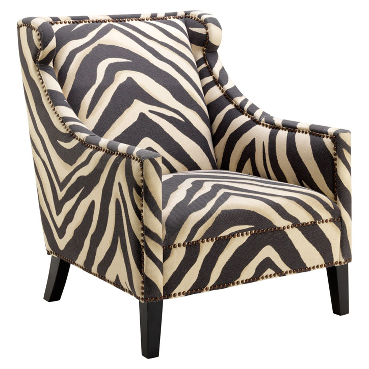 Zebra Print Occasional Chair