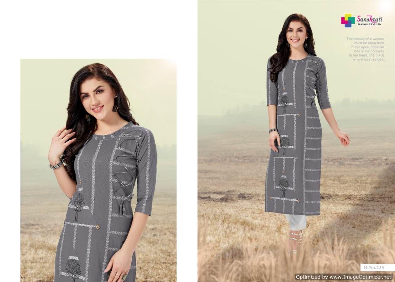 0bbf0f2492 Grey Fancy Wear Kurti #textilemalllove #silksarees #sareelove ...