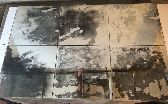 12x12 Antiqued Mirror Tiles For Wall Glass Tiles For Backsplash Etsy Antique Mirror Tiles Mirror Tiles Antique Mirror