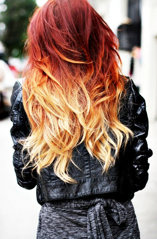 Korean Idols Via Tumblr Red Ombre Hair Hair Styles Hair Color Red Ombre