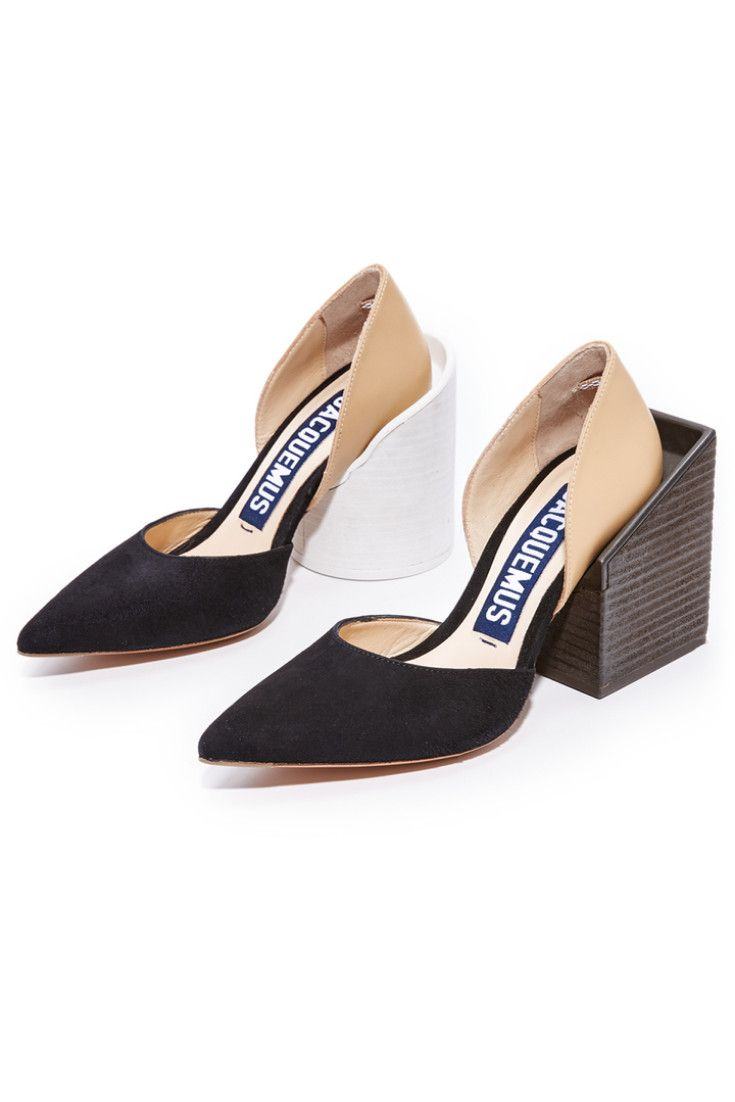 37a7869befc Jacquemus Arles Pumps - beige. Oversized square and circle heels