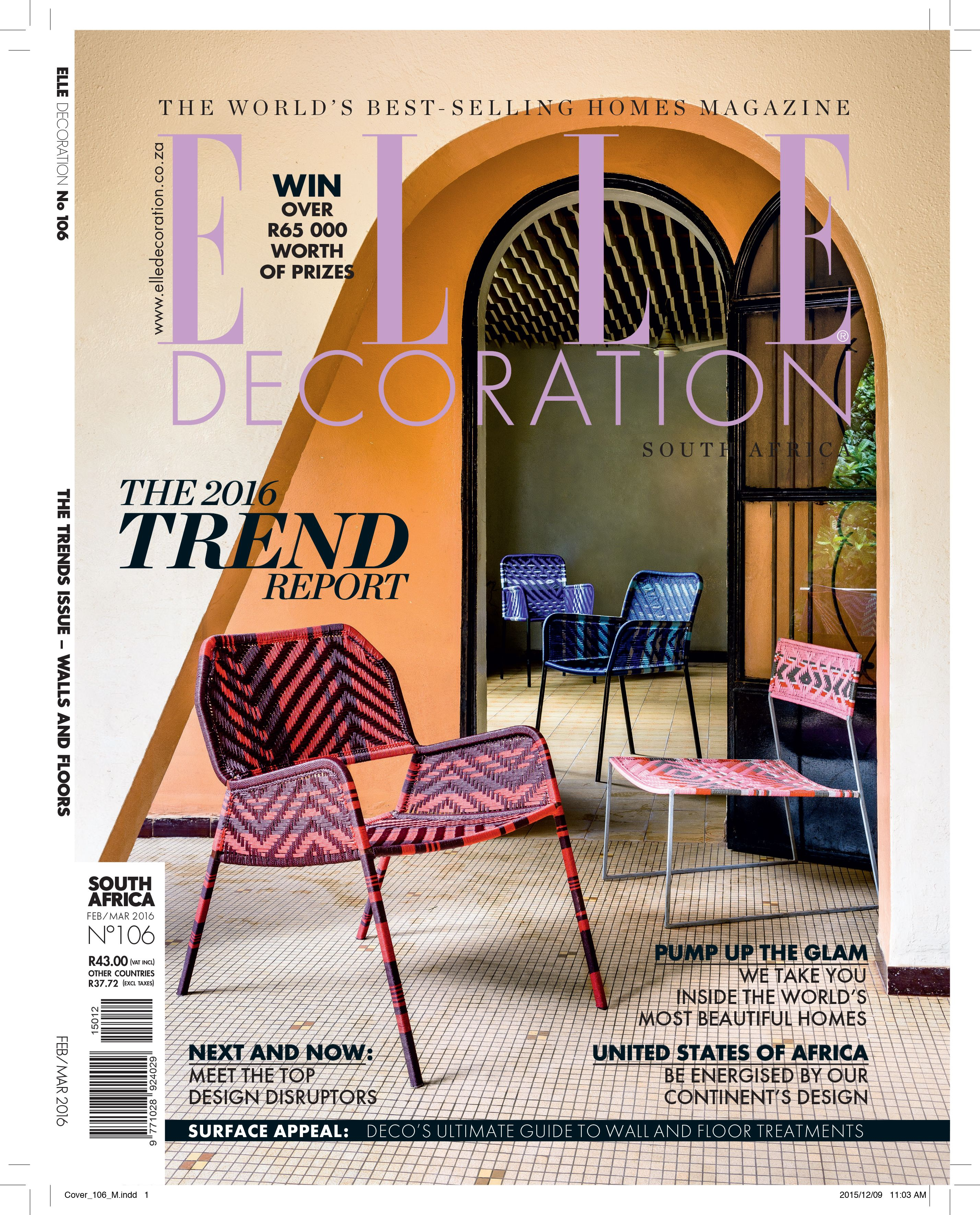 Elle Decoration South Africa Elle Decoration South Africa Issue 106 Editor Bielle