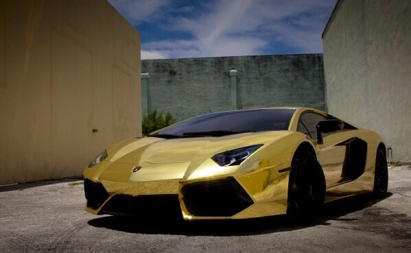 Gold Plated Lamborghini Aventador Lp700 4 With Images