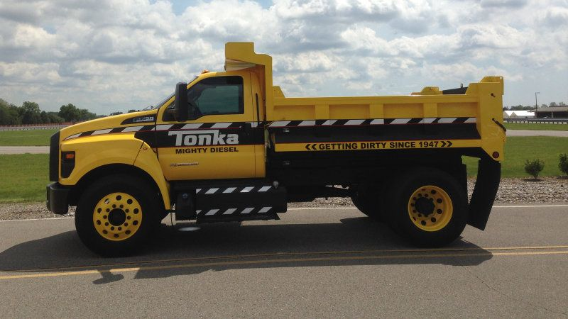 We Drive The 2016 Ford F 750 Tonka Dump Truck Trucks Ford Work Trucks Ford