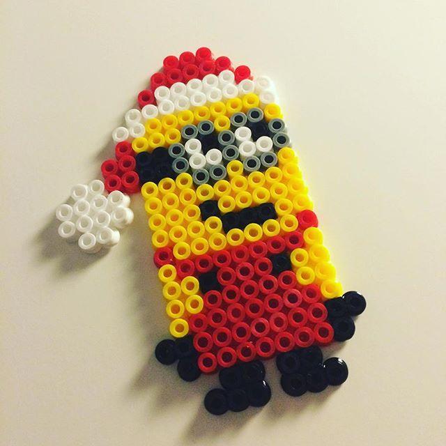 Santa Minion hama beads by missghitaa