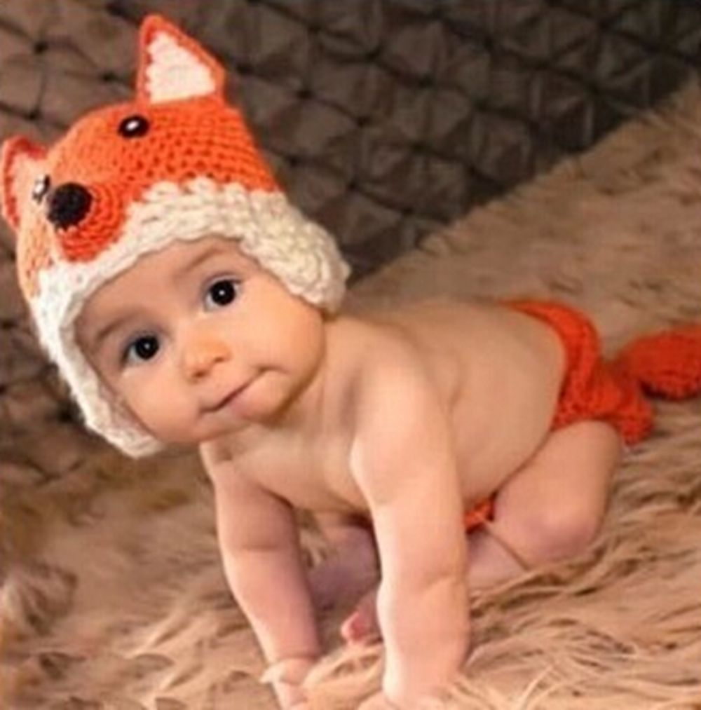 Baby Infant Fox Crochet Soft Knitting Costume Clothes Photography ...
