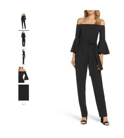 9d65768a33b Women s off the shoulder bell sleeve slim leg jumpsuit Eliza J Size 12   fashion  clothing  shoes  accessories  womensclothing  jumpsuitsrompers (ebay  link)