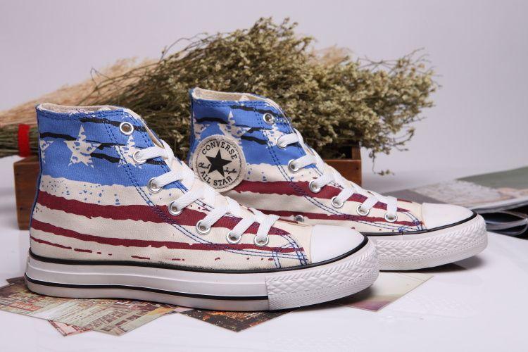 all star converse american flag