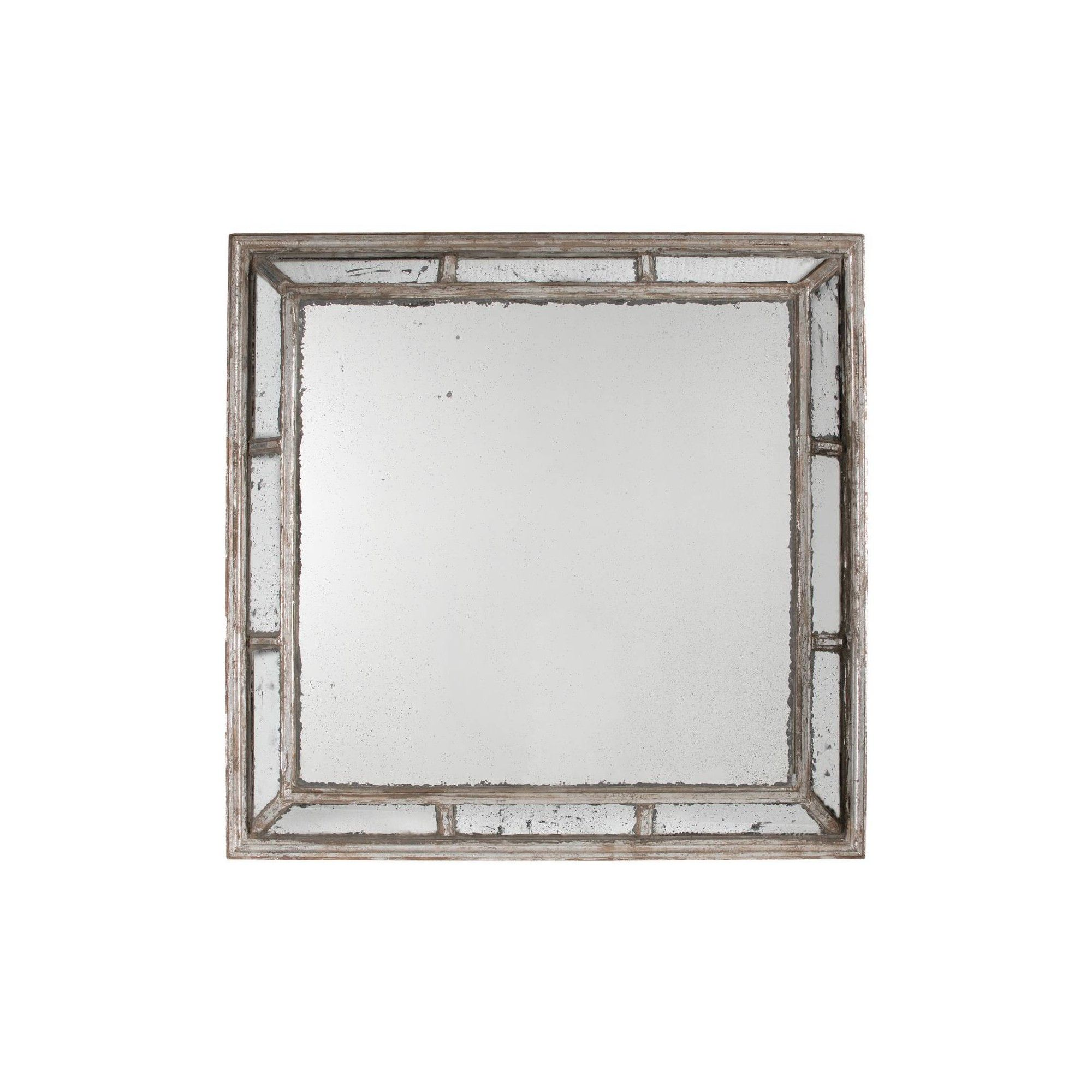 Irving Square Framed Mirror Antique White A B Home Adult Unisex