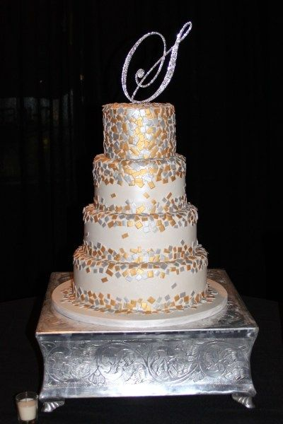 New Year S Eve Wedding Cakes Made This Wedding Cake For A New