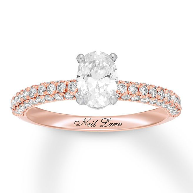 d44850ce7795f0 Neil Lane Engagement Ring 1-1/2 ct tw Diamonds 14K Rose Gold | my ...
