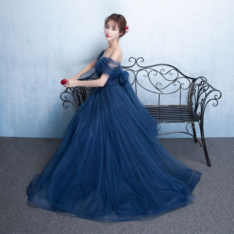 Aliexpress.com   Buy Pastel Pink Bridesmaid Dreses Long Elegant Boat Neck  Tulle Charming Sexy cd93f2ce92ba