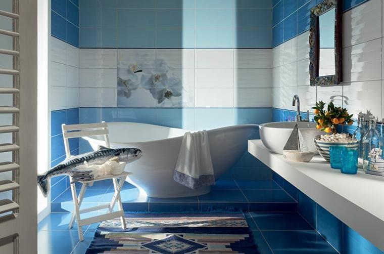 Moderne Badezimmer in blauer Farbe für Räume voller Harmonie Pinterest