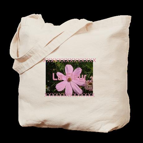 81abb8faa3a0 Funny Pink Cosmos La Fleur Tote Bag on CafePress.com