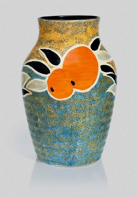 Clarice Cliff Vase Nuage Pattern Isis Shape 1928 1936 Clarice