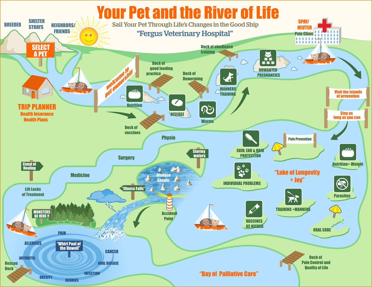 River Of Life A Graphic Representation Of The Life Journey Of Your Pet A Fvh Exclusive Feature