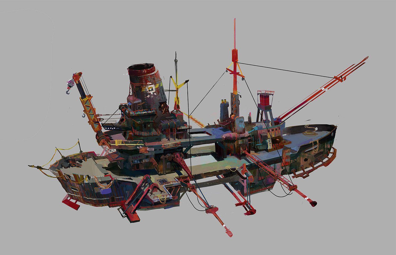 _skyship_RUST, longiy ● on ArtStation at https://www.artstation.com/artwork/_skyship_rust