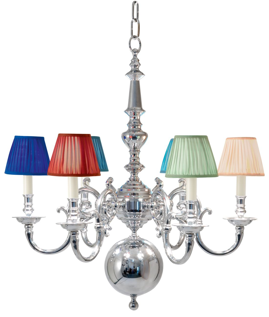 H2 023 6 light flemish chandelier shown in polished chrome 6 light flemish chandelier shown in polished chrome arubaitofo Gallery