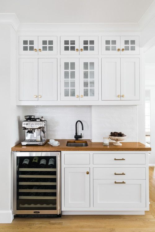 Built-in Kitchen Coffee Bar Ideas   - For the Home -