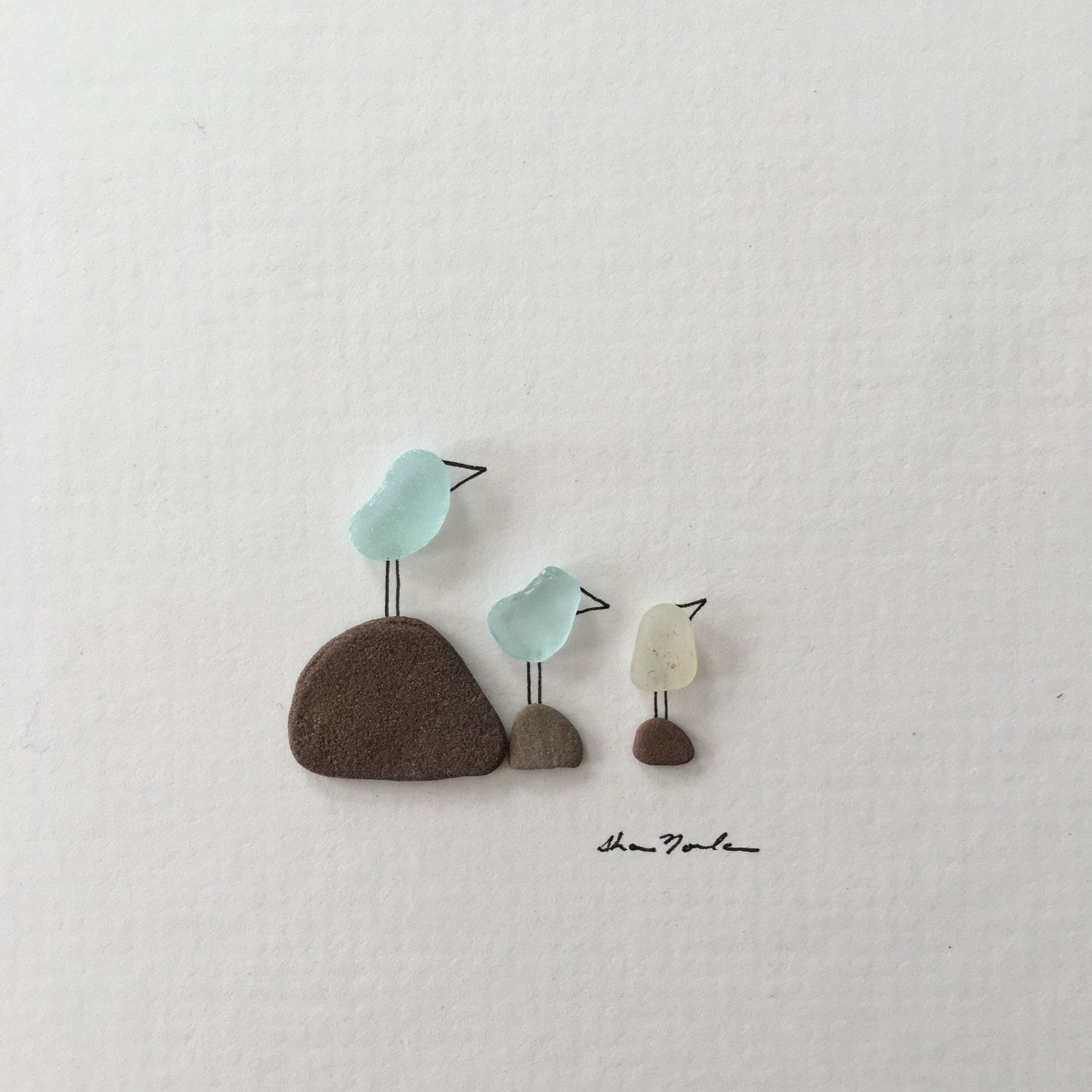 5 by 5 Mini unframed pebble art picture by sharon by PebbleArt ...