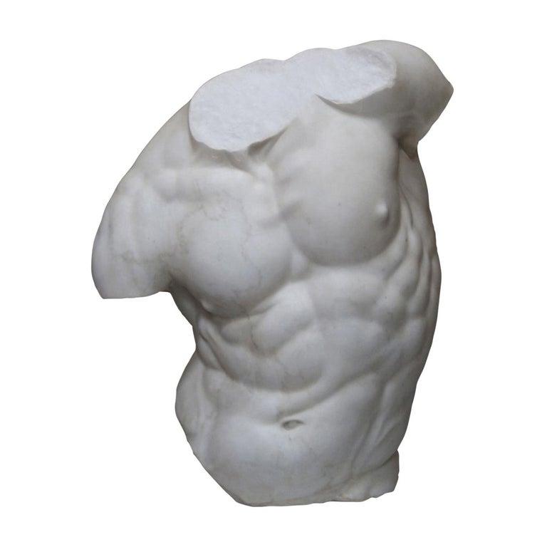 Gaddi Torso Marble Sculpture