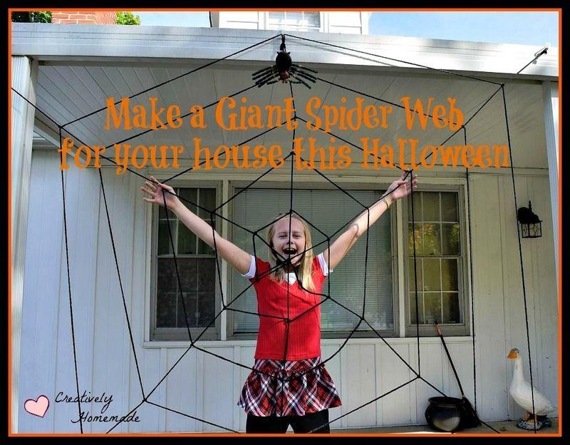 DIY Giant Spider Web Halloween Decoration Giant spider, Spider - giant spider halloween decoration