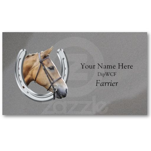 Horse Inside Horseshoe Logo Business Card Rural Business Cards