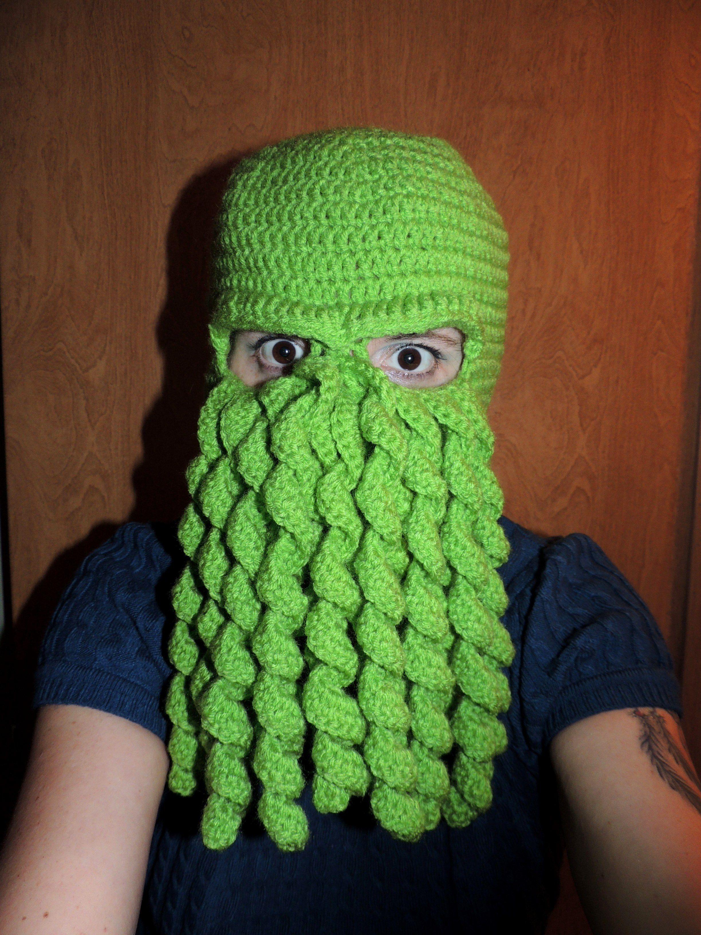 Cthulhu Crocheted Ski Mask I Made Created My Own Pattern Crochet