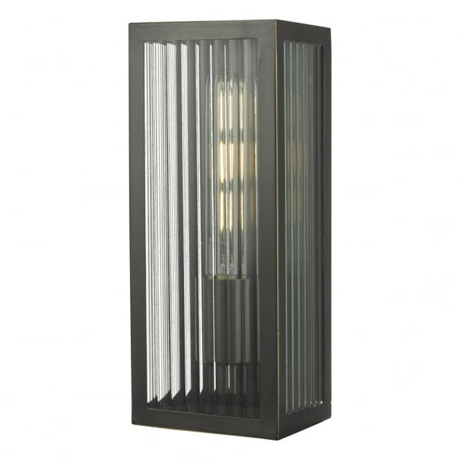 Contemporary Outdoor Lighting A Contemporary Outdoor Wall Lantern In A Rubbed Bronze With Clear