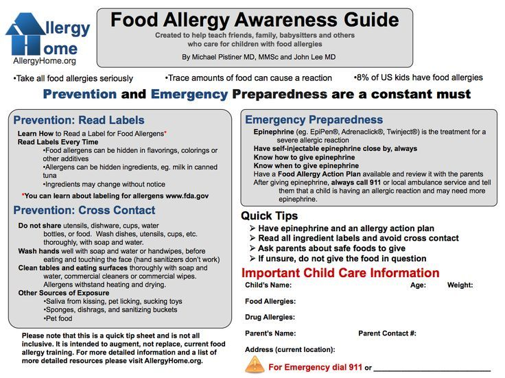 food allergy awareness guide reference since all my kids have friends with allergies