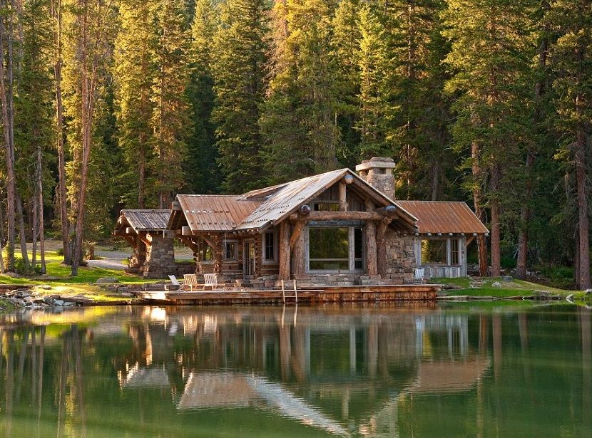 log cabin and its healing effect