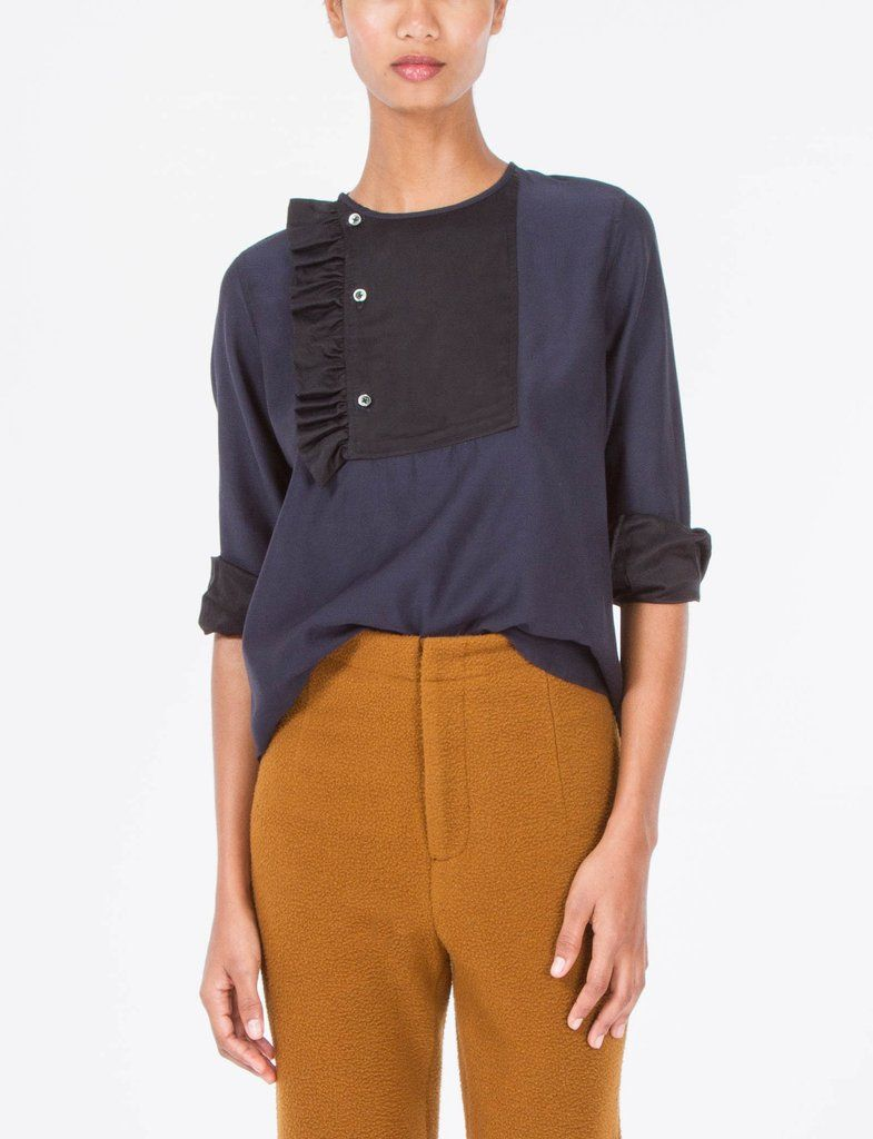 Rosie Cupro Ruffle Top   fashion   style   wardrobe   clothing   for tall women