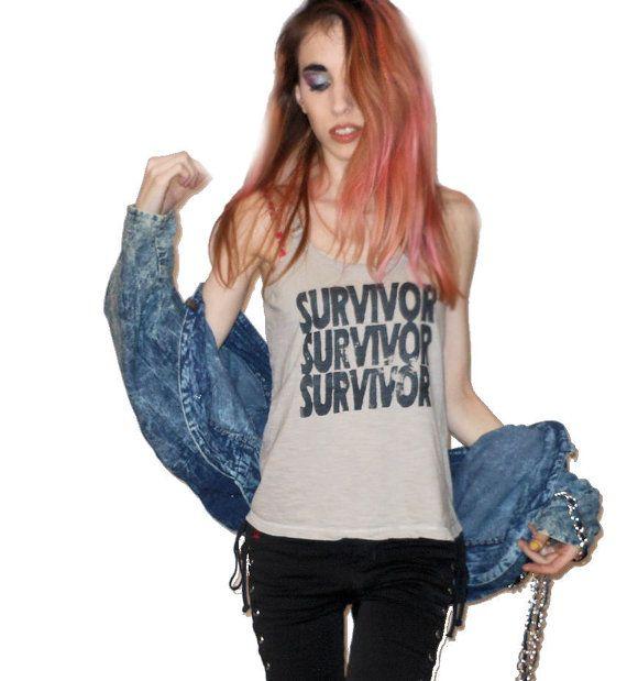 The Survivor Project: Light Gray SURVIVOR Scoop by BONESCOUTURE