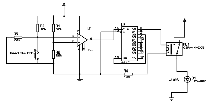Automatic Washroom Light Switch Circuit Diagram And