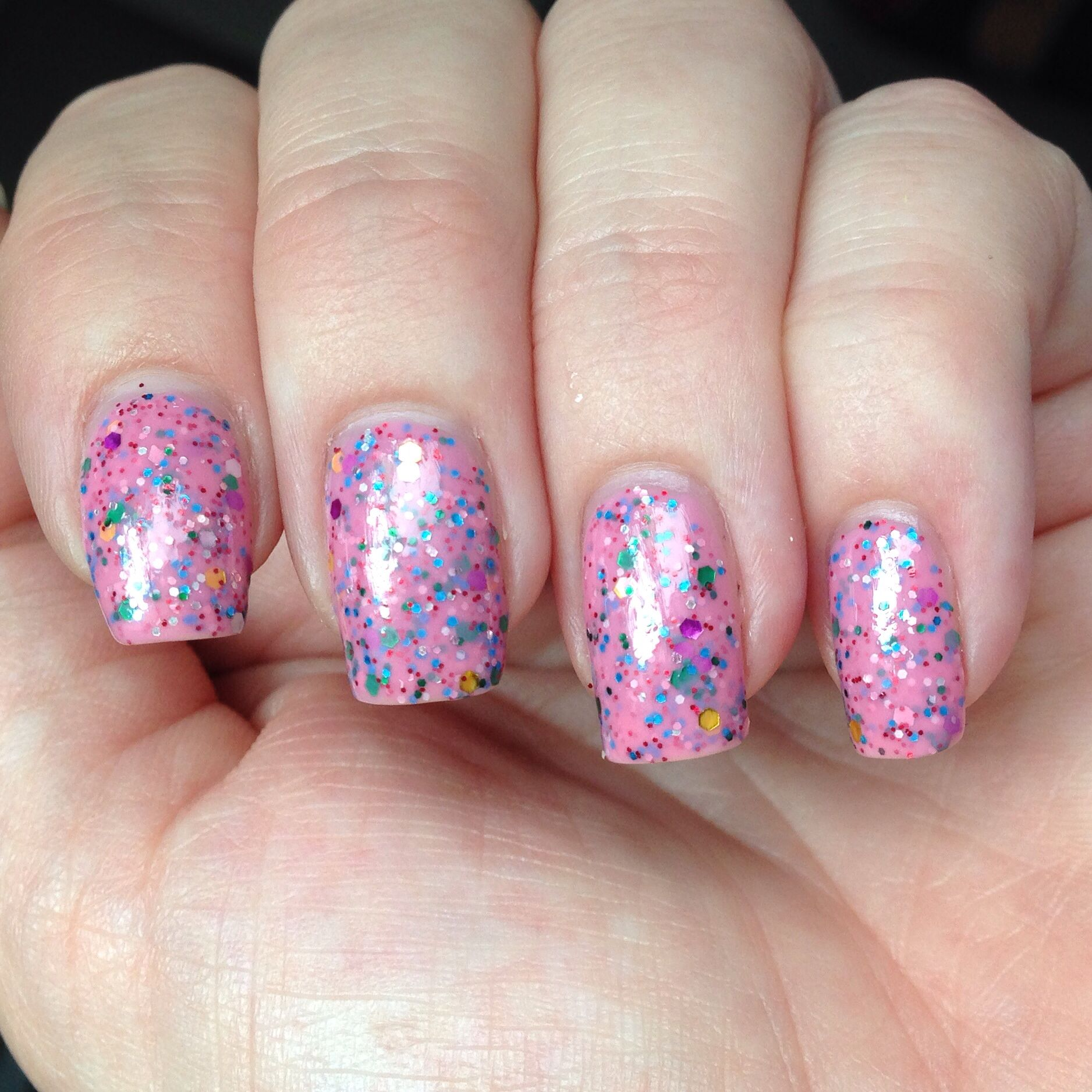 LA Colors Color Craze - Candy Sprinkles Polish Swatch | Everything ...