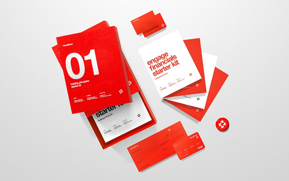 Corporate Branding For Helvetia Trust Designed By Anagrama