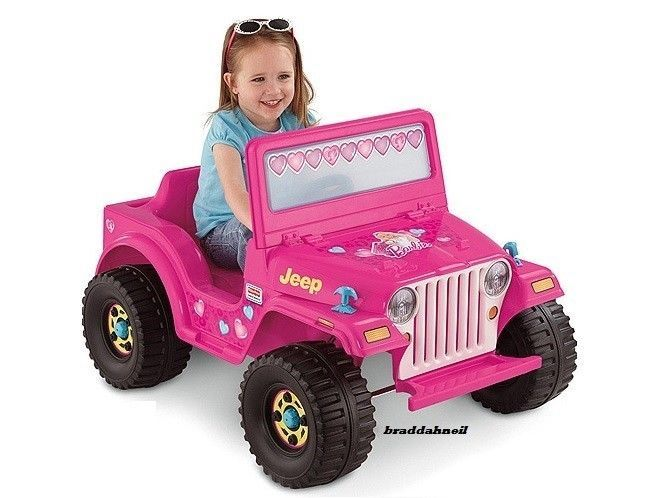 Barbie Wheels Jeep Kid Electric Car Battery Ed Ride On Toy Drive Fisherprice