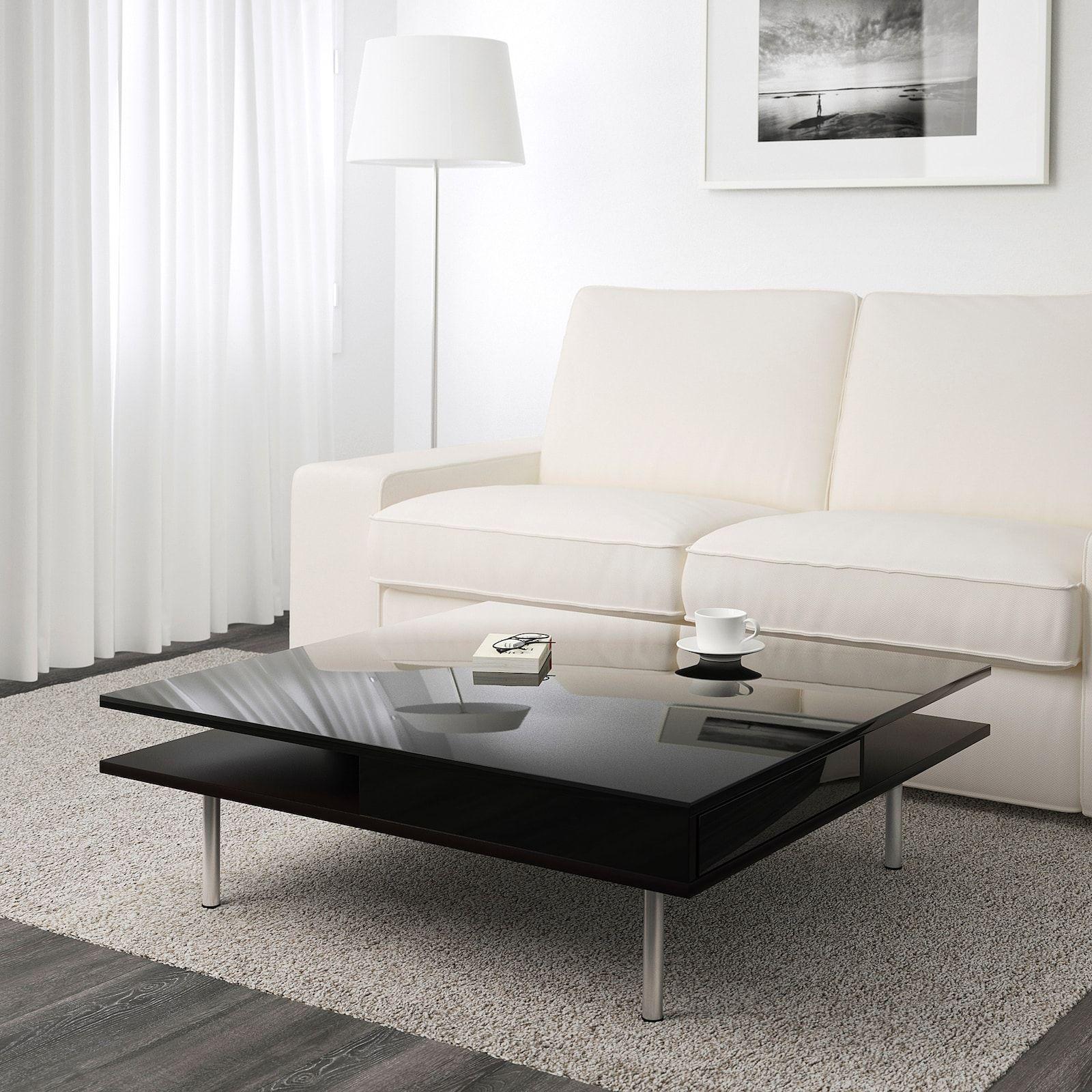TOFTERYD Coffee table, high gloss black, 37 3/8x37 3/8