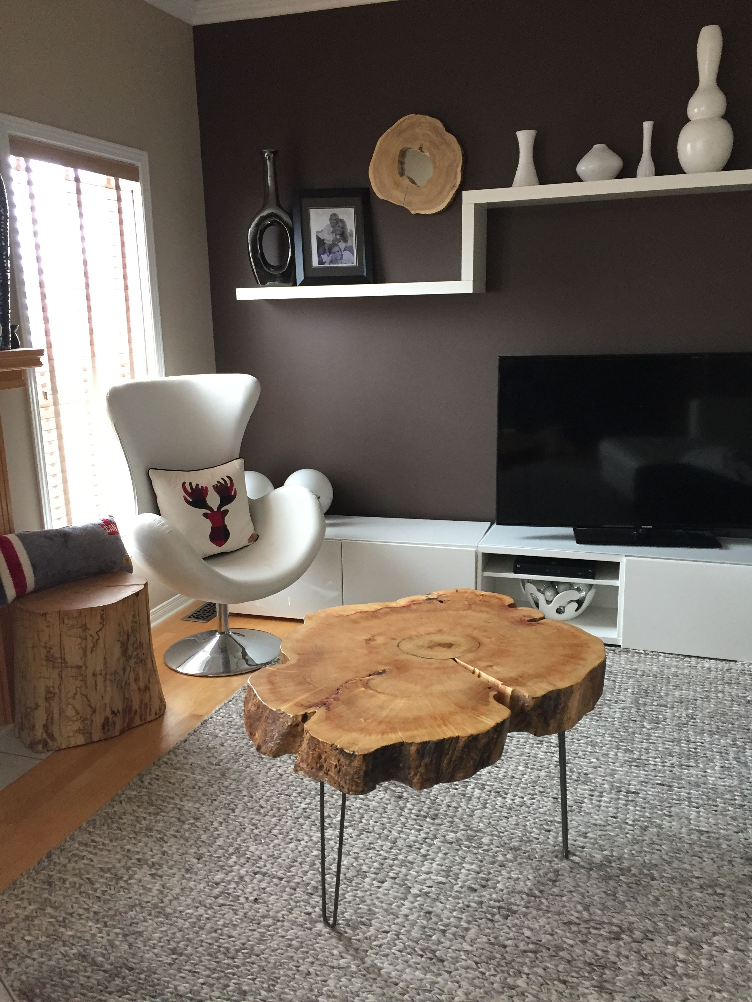 Rustic Sofa Table Canada 100 Inch Leather Stump Side Log Tables Tree Trunk