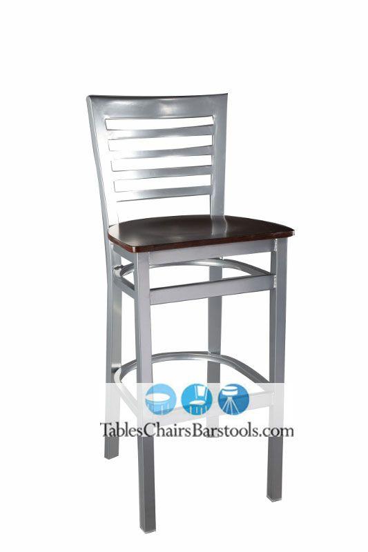 Pleasing Our Popular Metal Gladiator Bar Stool Goes Silver This Full Evergreenethics Interior Chair Design Evergreenethicsorg