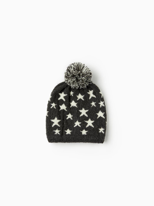 b3d445b9cdd Image 1 of STAR INTARSIA HAT from Zara
