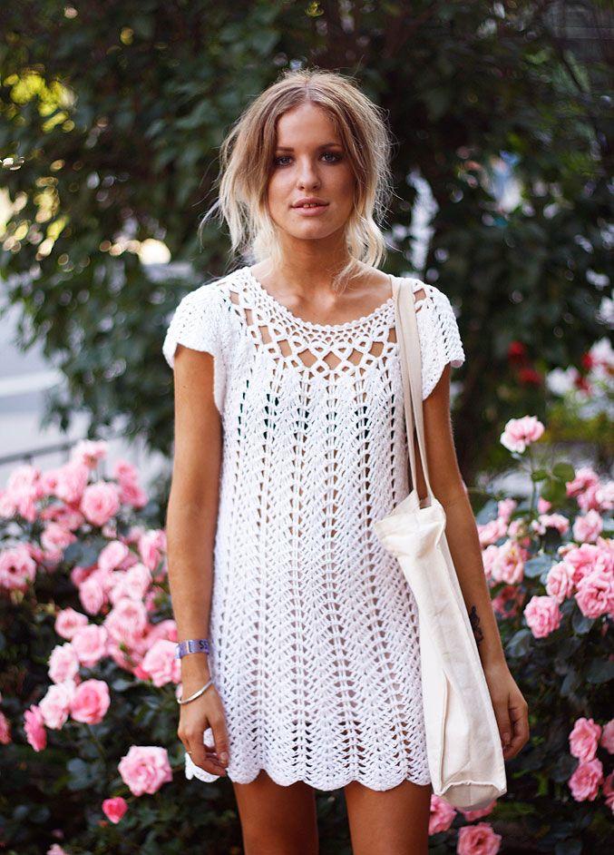 3a6e7b81071f 45 Beautiful Crochet Dresses to Look Gorgeous | crochet | Virkade klänningar,  Virka tröja, Mode