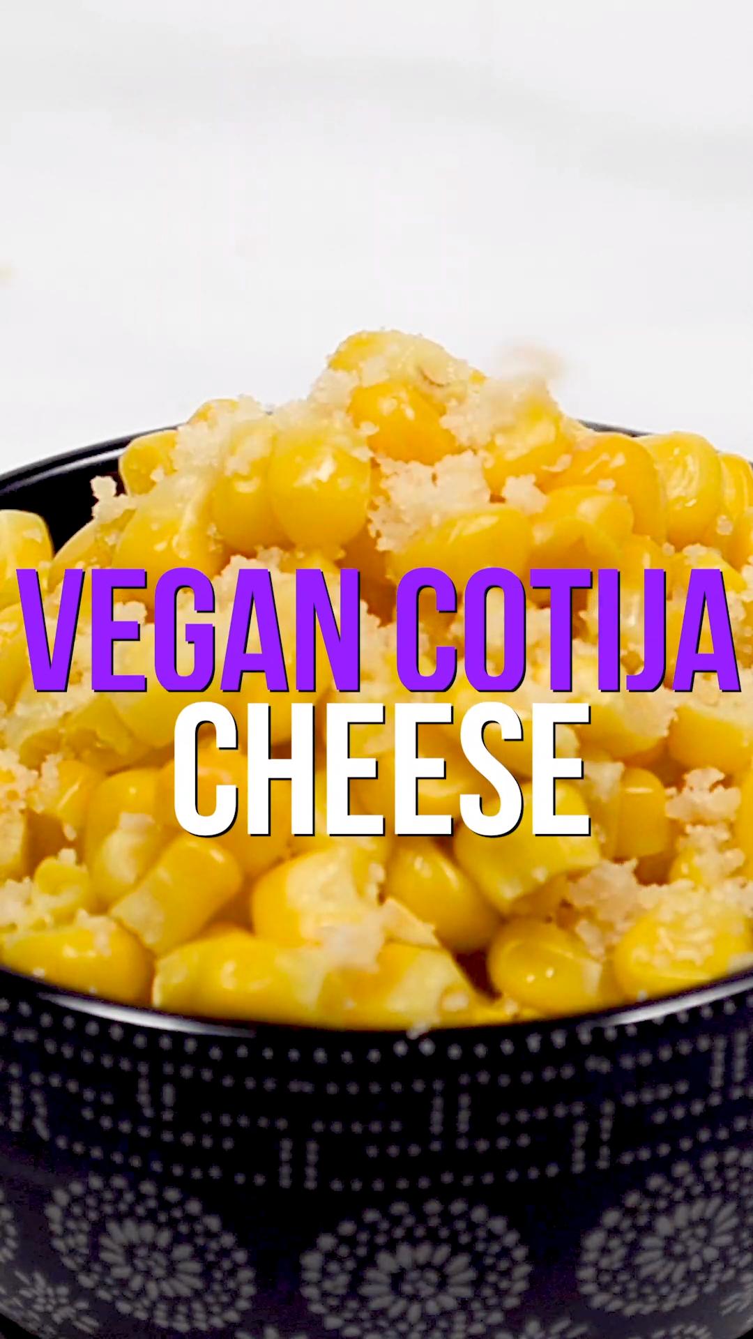 Vegan Cotija Cheese Video In 2021 Vegan Cheese Recipes Mexican Food Recipes Vegan Mexican Recipes