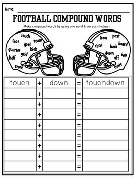 Football Themed Common Core And More Activity Sheets With Images