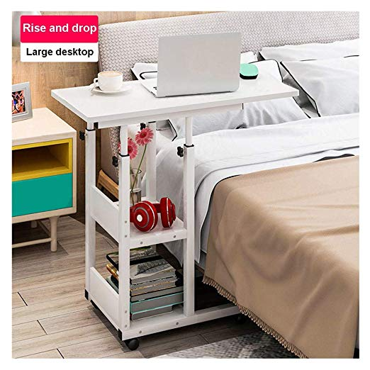 Amazon Com Mijaution Overbed Table Adjustable Height Movable Bedside Table Computer Desk Sofa Table Overbed Table Adjustable Height Table Hospital Bed Table